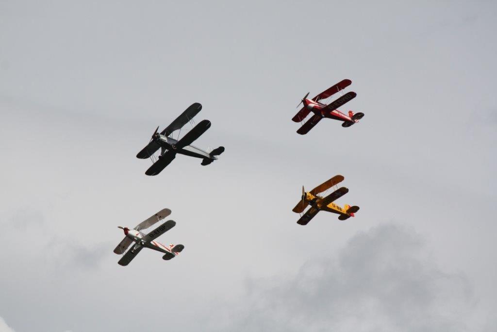 Oldtimer Formationsflug